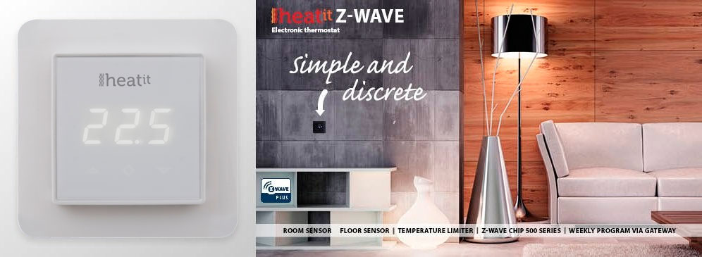 Thermofloor Heatit  Z-Wave Termostat