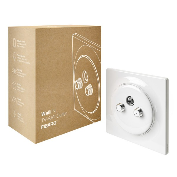 FIBARO Walli N TV-SAT Outlet 6