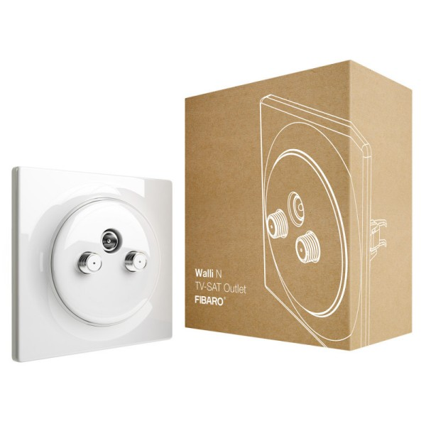 FIBARO Walli N TV-SAT Outlet 5